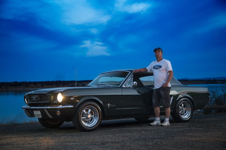 Pride and Joy, Chris with his 1966 Ford Mustang