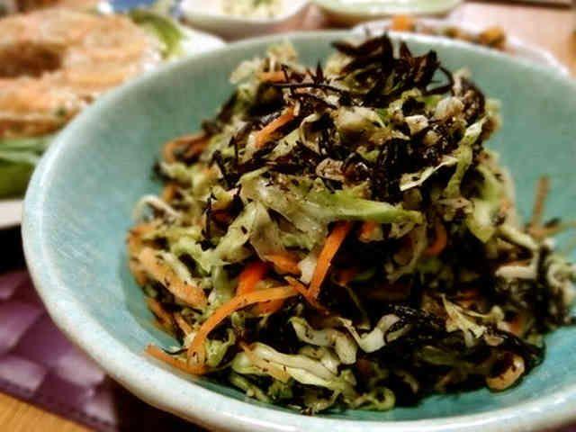 ひじき・キャベツ・人参の塩サラダの画像