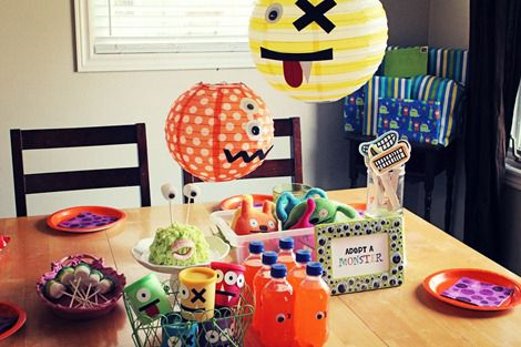 Like the monster lanterns for a Halloween Toddler Party