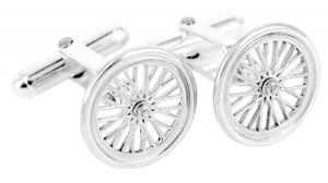 Bicycle cufflinks in sterling silver - $290
