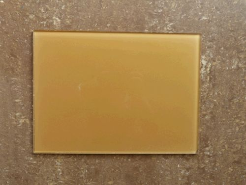 yellow glass heating panels