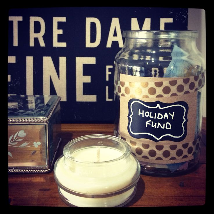 Holiday fund jar, using an upcycled Moccona Coffee jar www.mrsnargarandco.com