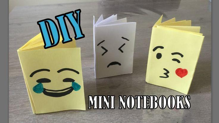 DIY eenvoudige EMOJI MINI NOTEBOOK knutselen van 1 papier, ZONDER lijm! - YouTube