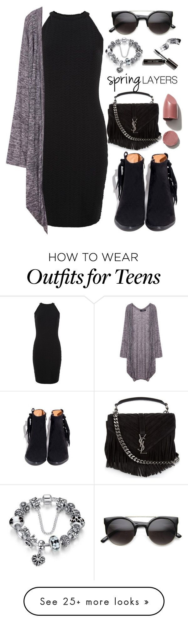 """Spring Layers"" by amrxo on Polyvore featuring New Look, Yves Saint Laurent, Bobbi Brown Cosmetics, cutecardigan and springlayers"