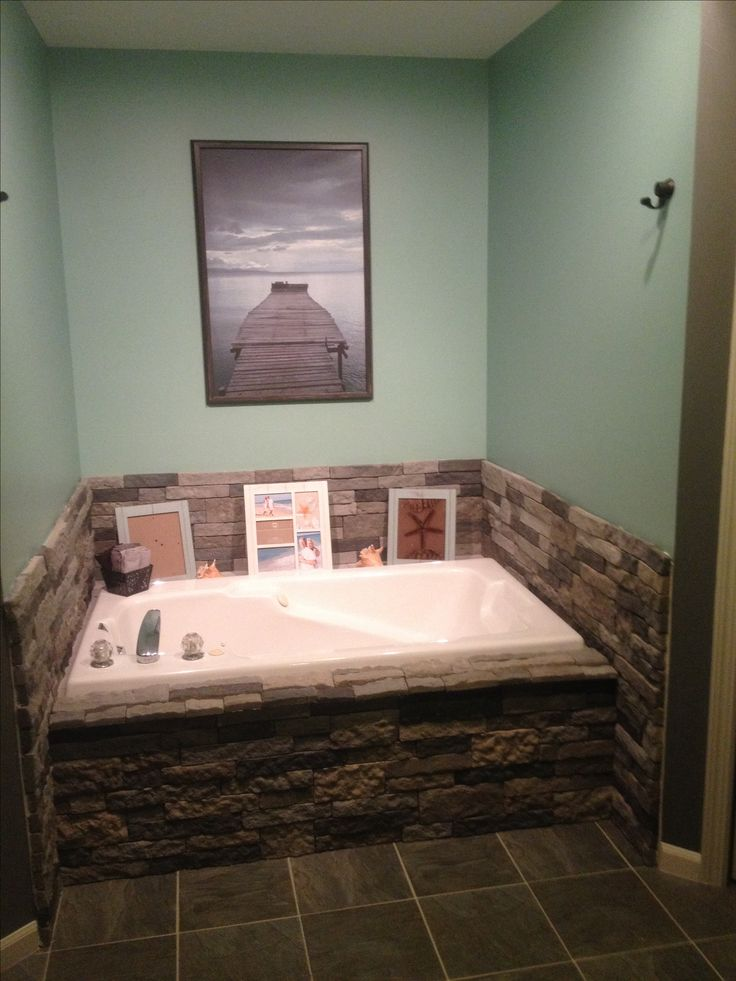 Airstone makeover anyone can do it for the home for How to decorate a garden tub bathroom