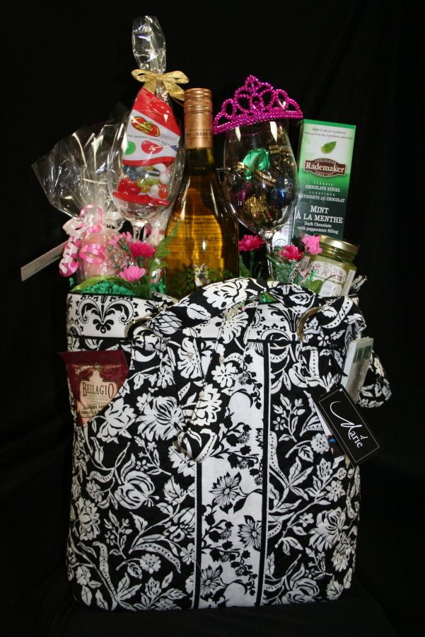 A beautiful arrangement in a business bag!  What other options do we have... purses maybe?