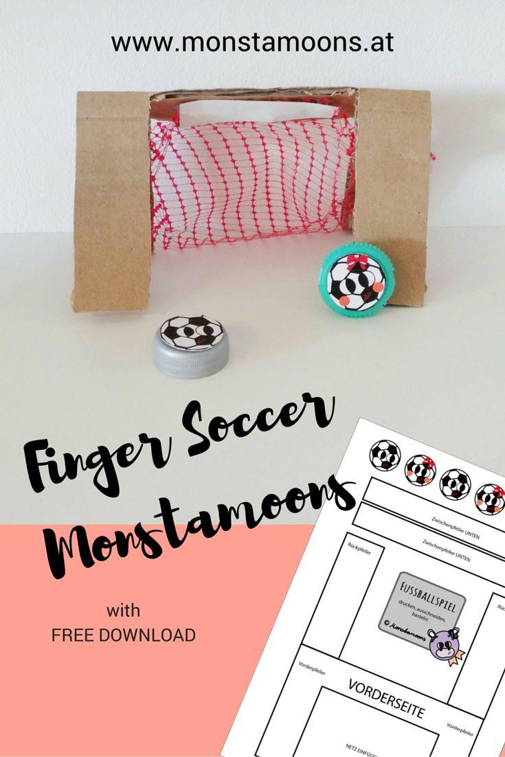 Finger #Soccer #cardboard craft. #Em2016 #soccercraft