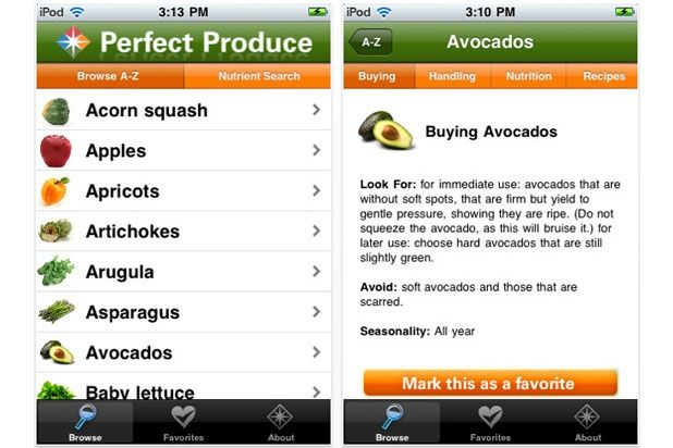 8. Perfect Produce - thinking of using this app to try to eat healthier