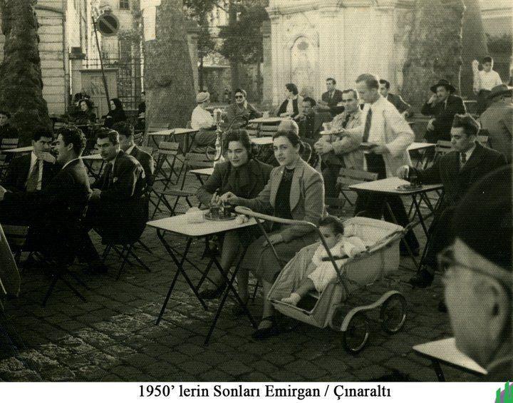1950's. Emirgan, Istanbul - Çınaraltı