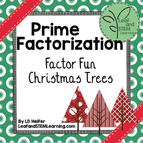 Fun Christmas Math Worksheets Middle School : Best ideas about prime factorization on pinterest