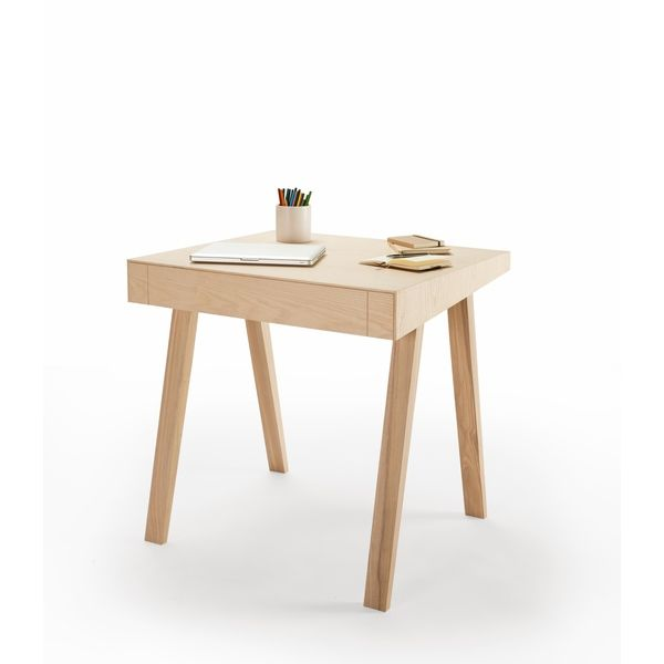 Schreibtisch 4.9 Aus Holz Mit Einer Schublade. Ausgefallener Schreibtisch  Für Büro, Home Office