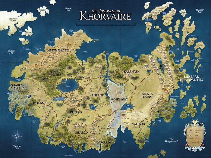 $5.95 - D&D Map Khorvaire Fantasy Dungeons & Dragons Huge ...
