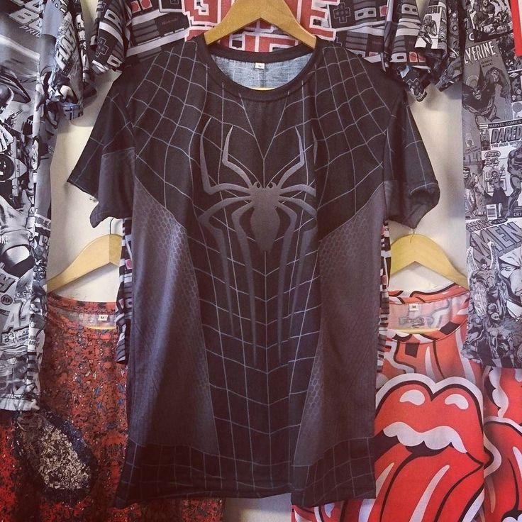 #remera #fullprint #spiderman #black #marvel en @irarte_estampado y www.estampado.com.ar