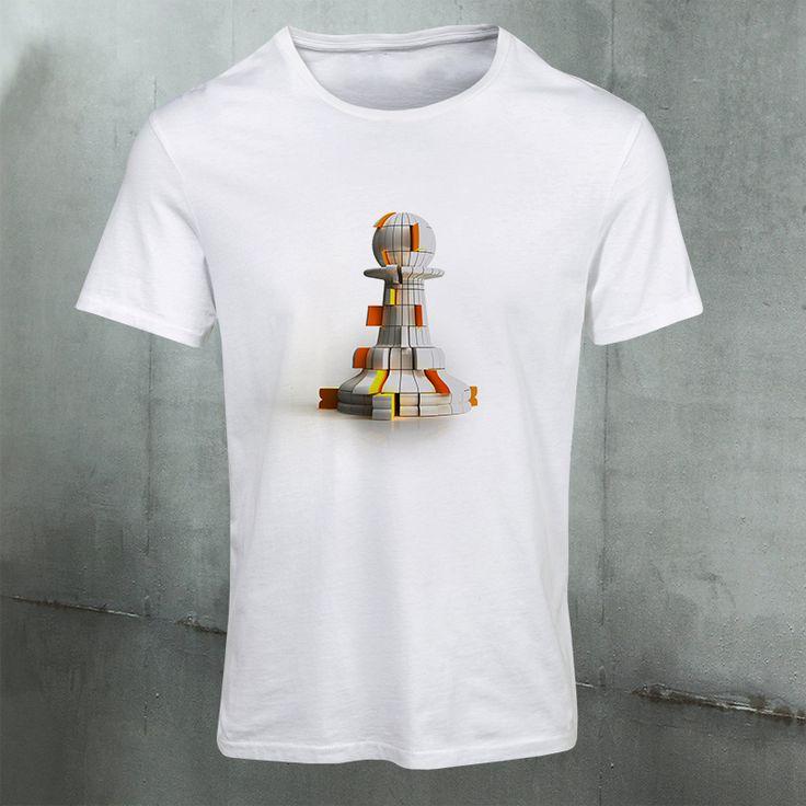 The Shifted Pawn #TheShiftedPawn #white #chess #tshirt #clothing #premiumchesswebshop #chesswebshop