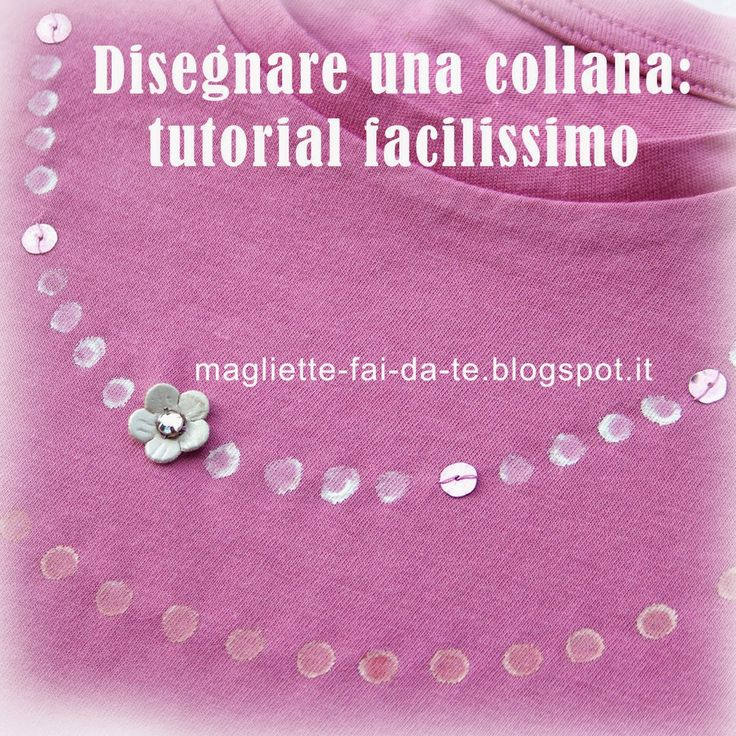 """Magliette fai da te: riciclo, colorare, decorare: STENCIL CON UNA PENNA: disegno """"collana"""""""