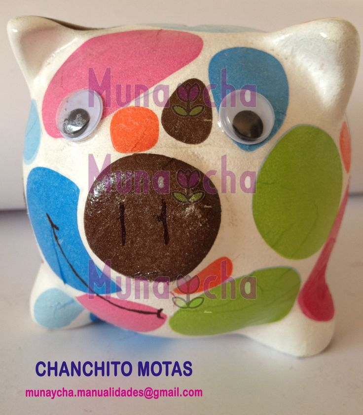 Chanchitos alcancía decorativos en 3 tamaños. Son piezas únicas, hechas a mano. Bellos regalos para toda ocasión. Hagan sus pedidos a munaycha.manualidades@gmail.com