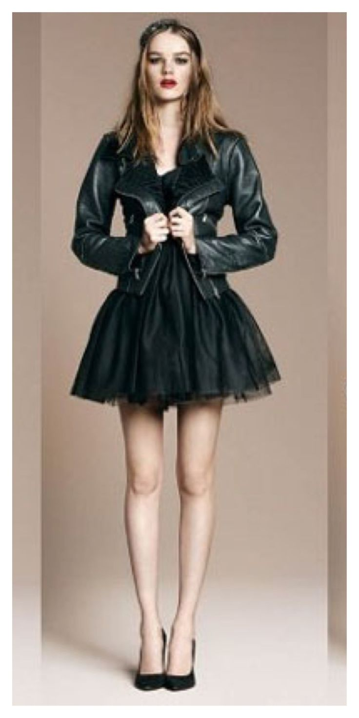 Dresses with leather jackets
