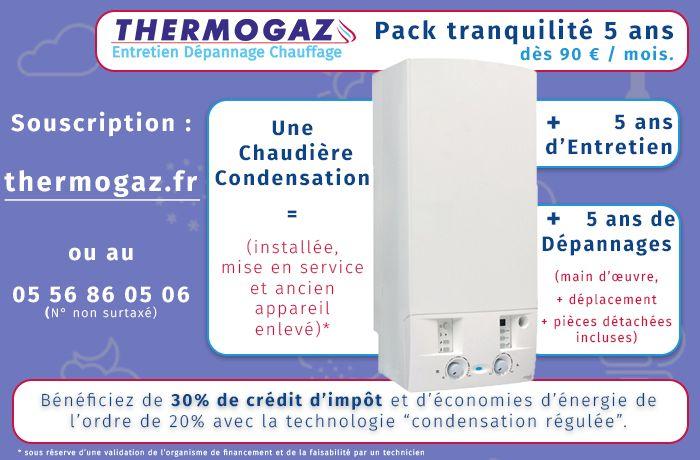visuel pour le pack tranquilité créé pour l'agence thermogaz à Bordeaux