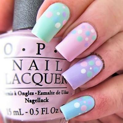 35 diseños de uñas en color pastel, ¿con cuál os quedáis?