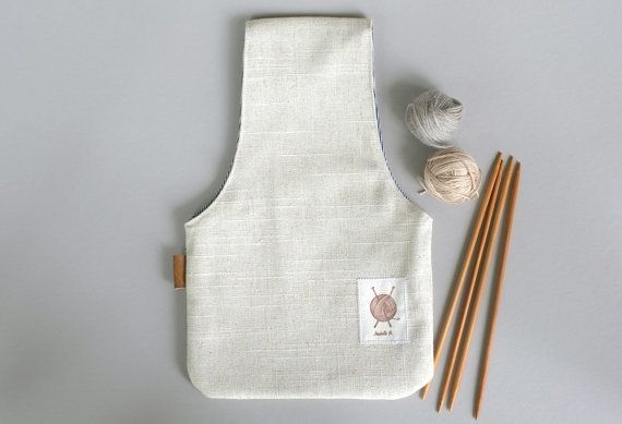 A linen bag in a super simple design to hold your ball of yarn while you are knitting. This little pouch is reversible. One side is Beige Linen and inside is gray (I use the reverse of denim). It has a leather tag. The pouch can be used for knitting, crochet, embroidery... It can hold your little things while you work. This can make the perfect gift for your knitter friend...! Or yourself, of course... 12.5 Tall X 8 *Make sure you check the MEASUREMENTS, this bag holds 1 yarn ball and is ...