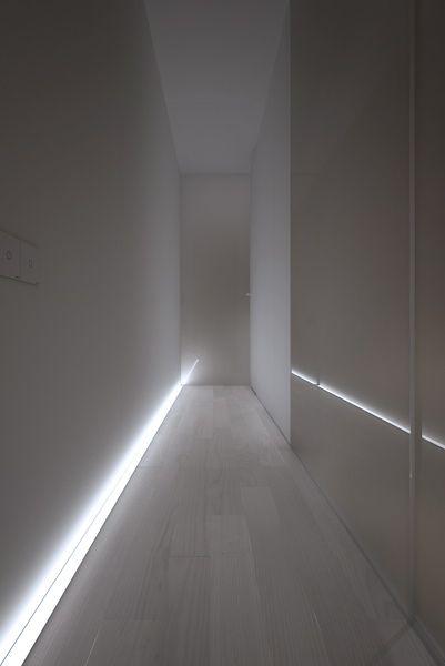 Small Apartment in France: bottom light | lighting . Beleuchtung . luminaires | Design: Oporski Architektura @ behance |