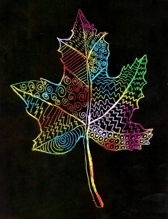 A Scratch Art Drawing class calls for a different plan than a regular drawing class. Erasing is not an option, and I'd like the kids to focus on drawing lots of patterns, so I'm going to give them the outline of this leaf to start with. • View and download Leaf for Scratch Art Template   … Read More