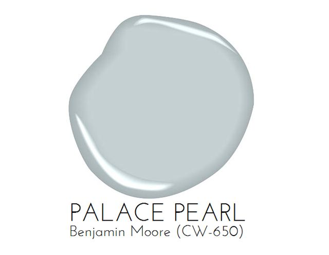 Painting Our Living Room Light Blue: Palace Pearl by @benjaminmoore
