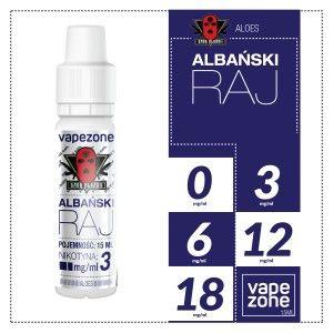 ALBAŃSKI RAJ - ALOES - GANG ALBANII -15ML -E-LIQUID VAPEZONEE-Liquid:ALOESButelka:15