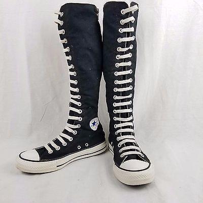 bd0d04f0fac166 Converse All Star Chuck Taylor Knee High Top Super Tall Black Sneakers Shoes  sz6
