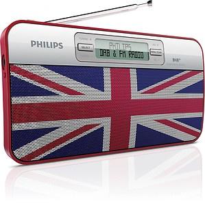 PHILIPS PORTABLE PERSONAL DAB DIGITAL RADIO NEW UNION JACK DESIGN