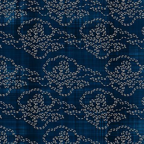 Sashiko: Kumo - Clouds fabric by bonnie_phantasm on Spoonflower - custom fabric