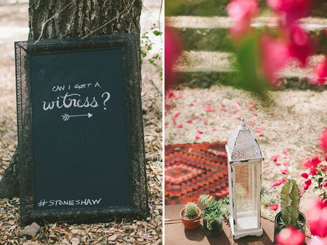 Can I Get A Witness? -> Pinned by Afloral.com from http://greenweddingshoes.com/eclectic-handmade-ranch-wedding-danielle-logan/