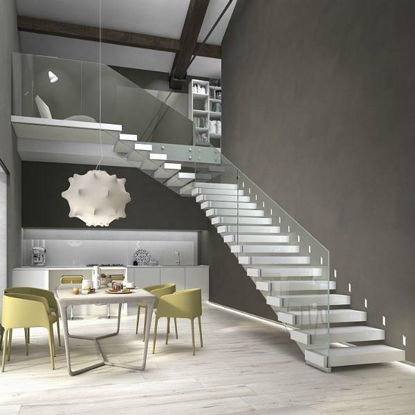 Oltre 25 fantastiche idee su scale interne su pinterest - Scale a giorno moderne ...