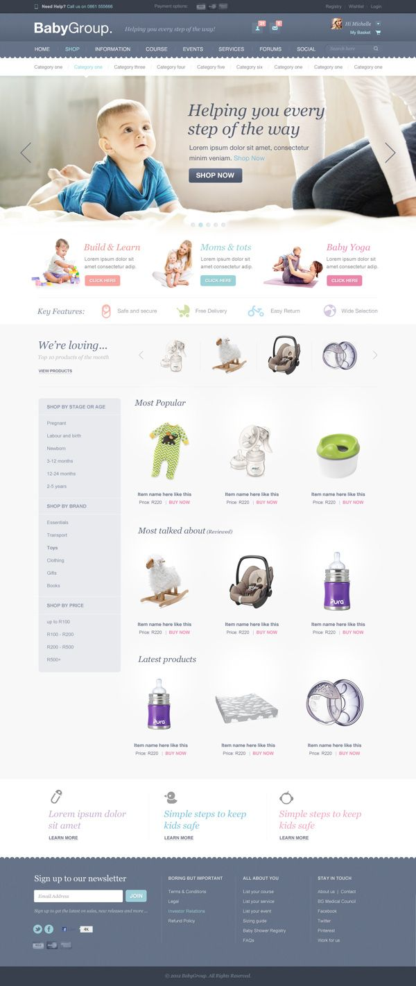 BabyGroup | South African parenting community by Lisa McColl, via Behance