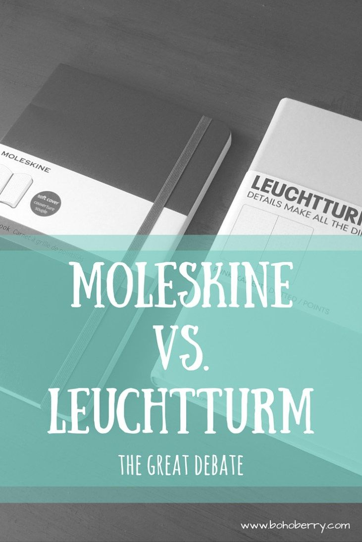 Are you wondering which notebook to use for your new Bullet Journal? Here's my review of the two most popular notebooks among Bullet Journalists. Moleskine vs. Leuchtturm