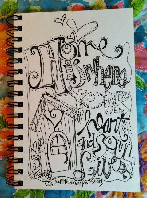 Sketchbook Challenge Blog Hop ~ Joanne Sharpe A FREE PDF available for download!