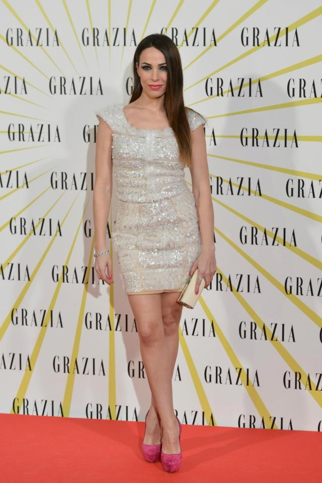 Nerea Garmendia styled by ghd in Grazia´s launch party. Straight and smooth.