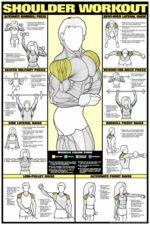 Shoulder Workout Poster - Laminated