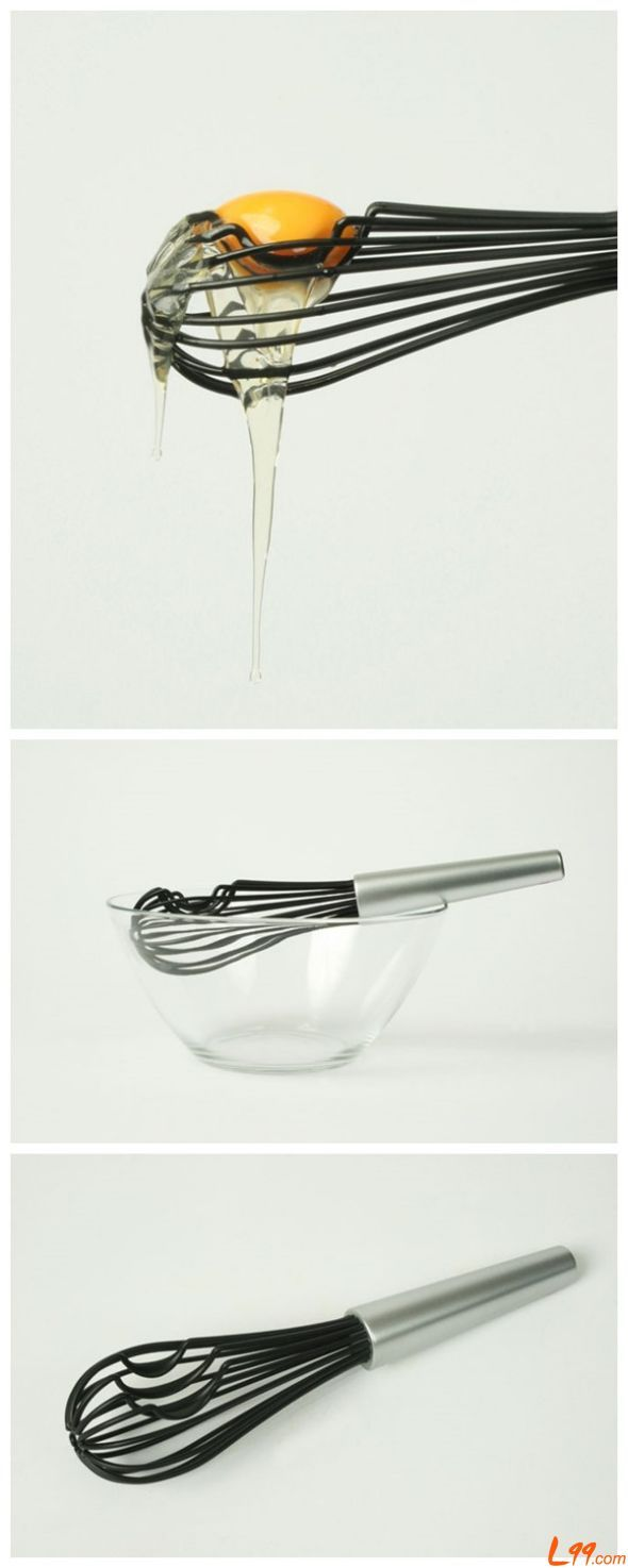 Handy whisk // separates egg white from the yolk as well as whisking!