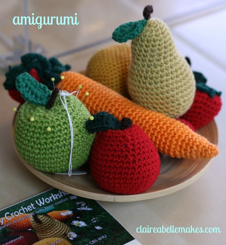 Crochet Fruit, for a play kitchen, not a pincushion