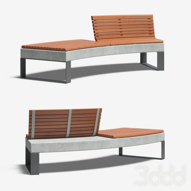 DIAMANTE Curved Bench