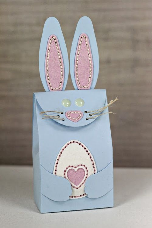 256 best treat boxesbags easter images on pinterest cookie box bunny bag by erin lincoln for papertrey ink march negle Choice Image