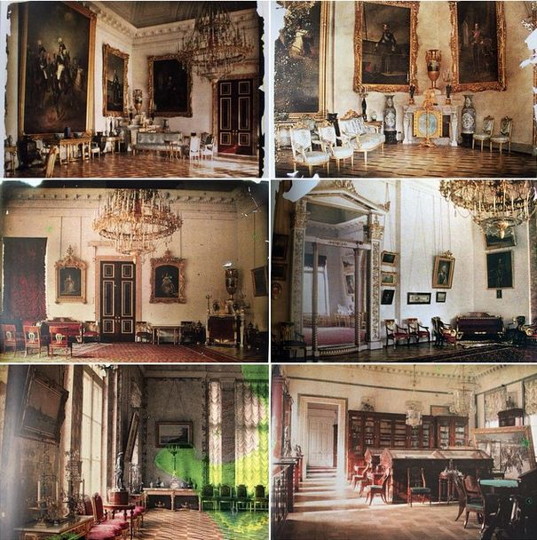Rooms at Alexander Palace, 1917. These pictures are real color photos. These photos were taken after the imperial family's departure to Tobolsk, Siberia.