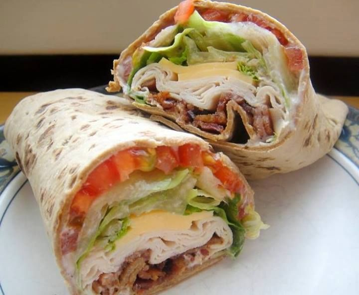 TURKEY RANCH CLUB WRAP, i'll probably swap out the regular tortilla wrap for a wheat or spinach one ...