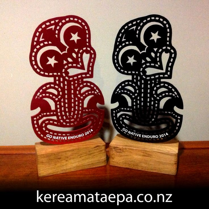 Trophies for the Go Native Enduro mountain biking event held by South Star Adventures in Rotorua.
