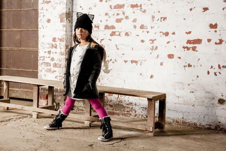 OUCH Kids Clothing #girlsfashion #kidsfashion #pink #winter #jacket #photoshoot