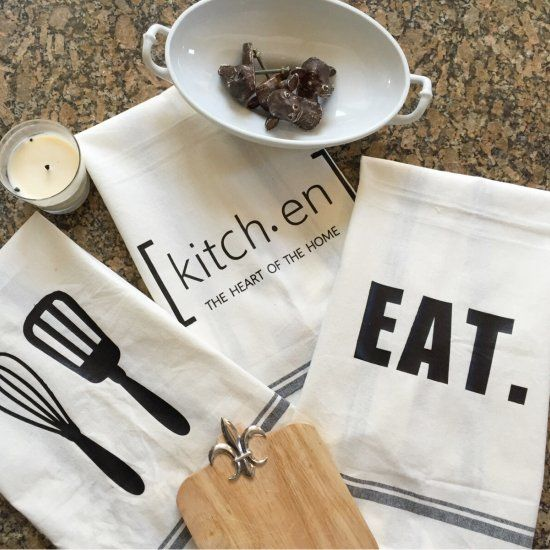 Create Your Own Farmhouse Inspired Tea Towels Using Heat