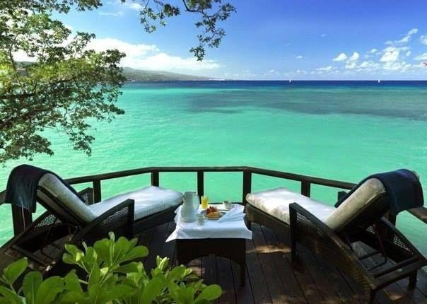 Терраса с видом на море, Очо-Риос, Ямайка