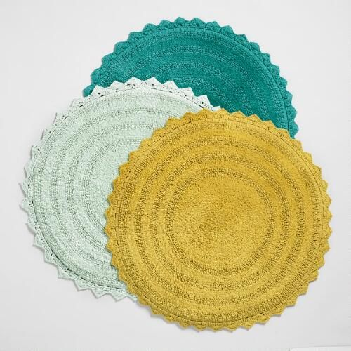 One of my favorite discoveries at WorldMarket.com: Round Cotton Bath Mat
