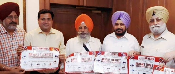S. Sadhu Singh Dharamsot, Social Welfare Minister, Punjab launched the poster of Aryans Youth Festival in parallel with Aryans Tech Fest to be held 26-27-28th September at Aryans Campus.  #AryansGroupofColleges #Giddha #ClassicalDance #FolkSong #Orchestra #Gazal #Painting #Rangoli #Photography #Natak #Mimicry #WesternItems #PosterMaking #Cartooning #Bhangra #Mime #Skits